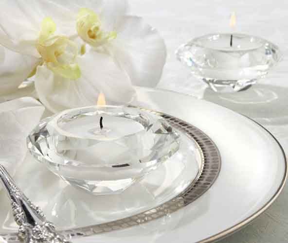 Crystal Diamond Shaped Tealight Holder