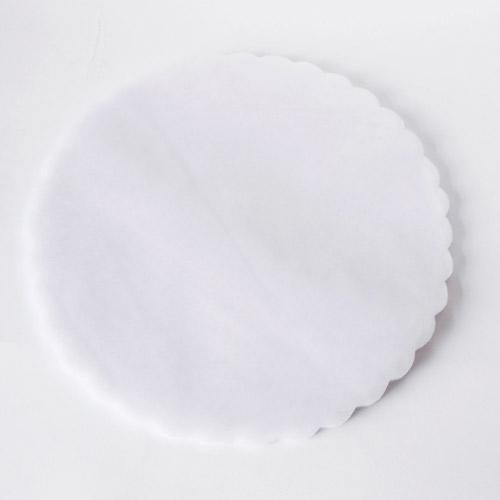 White Scalloped Edge Organza Circles