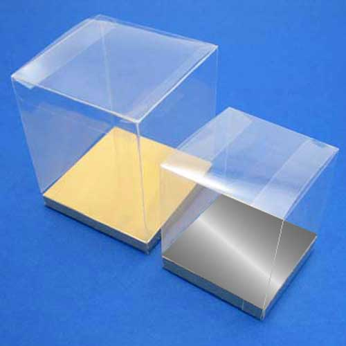 PVC Box with Silver or Gold Base
