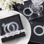 With This Ring Glass Coasters
