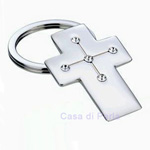 Cross Key Ring - Silver