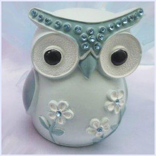 Owl Money Box - Blue