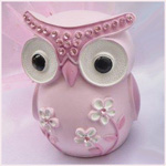 Owl Money Box - Pink