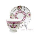 Pink Vintage Cup & Saucer