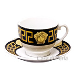 Coffee Cup & Saucer - Black