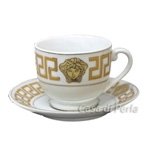 Coffee Cup & Saucer - Gold